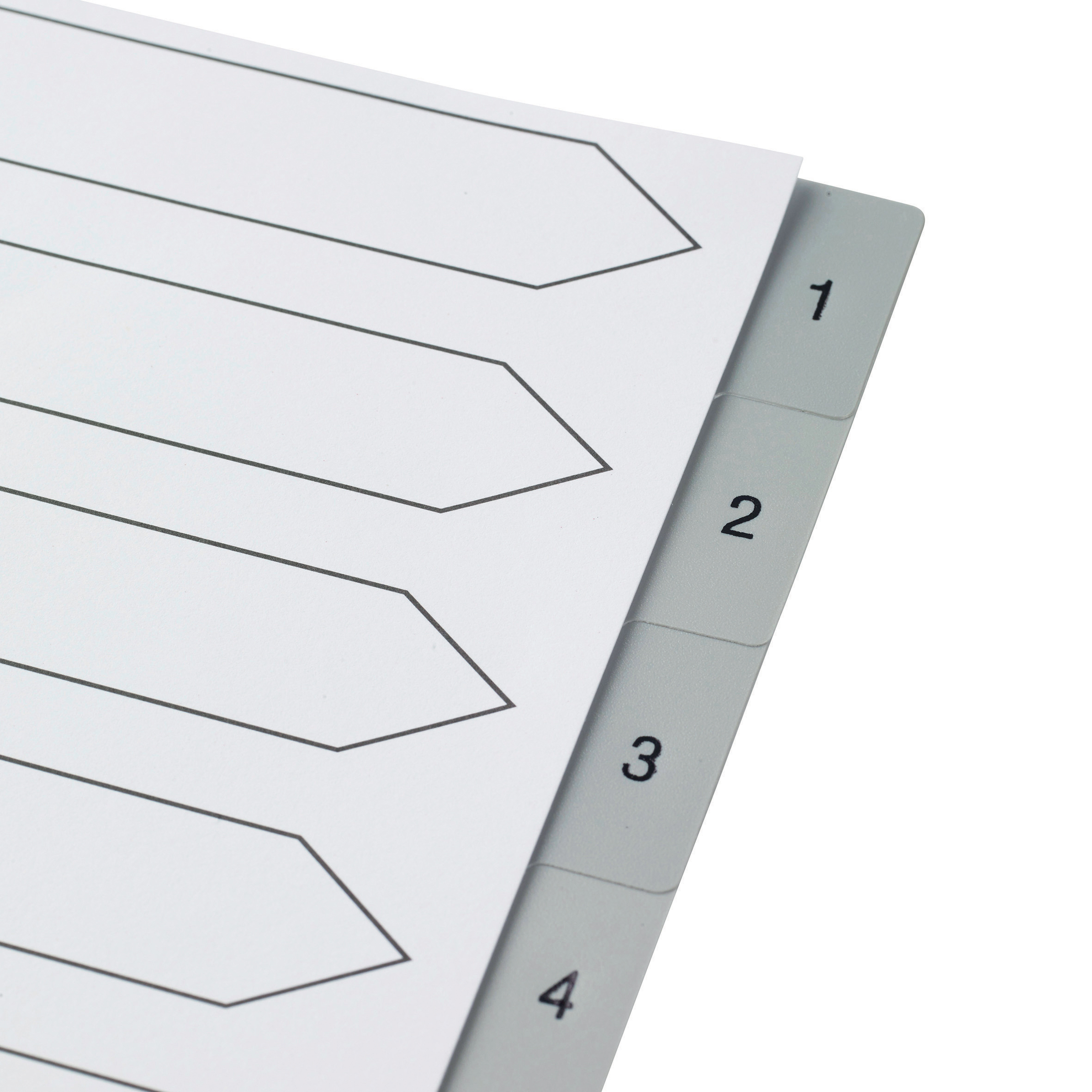 5 Star Elite Index 1-10 Polypropylene Multipunched Reinforced Holes Grey Tabs 120 Micron A4 White
