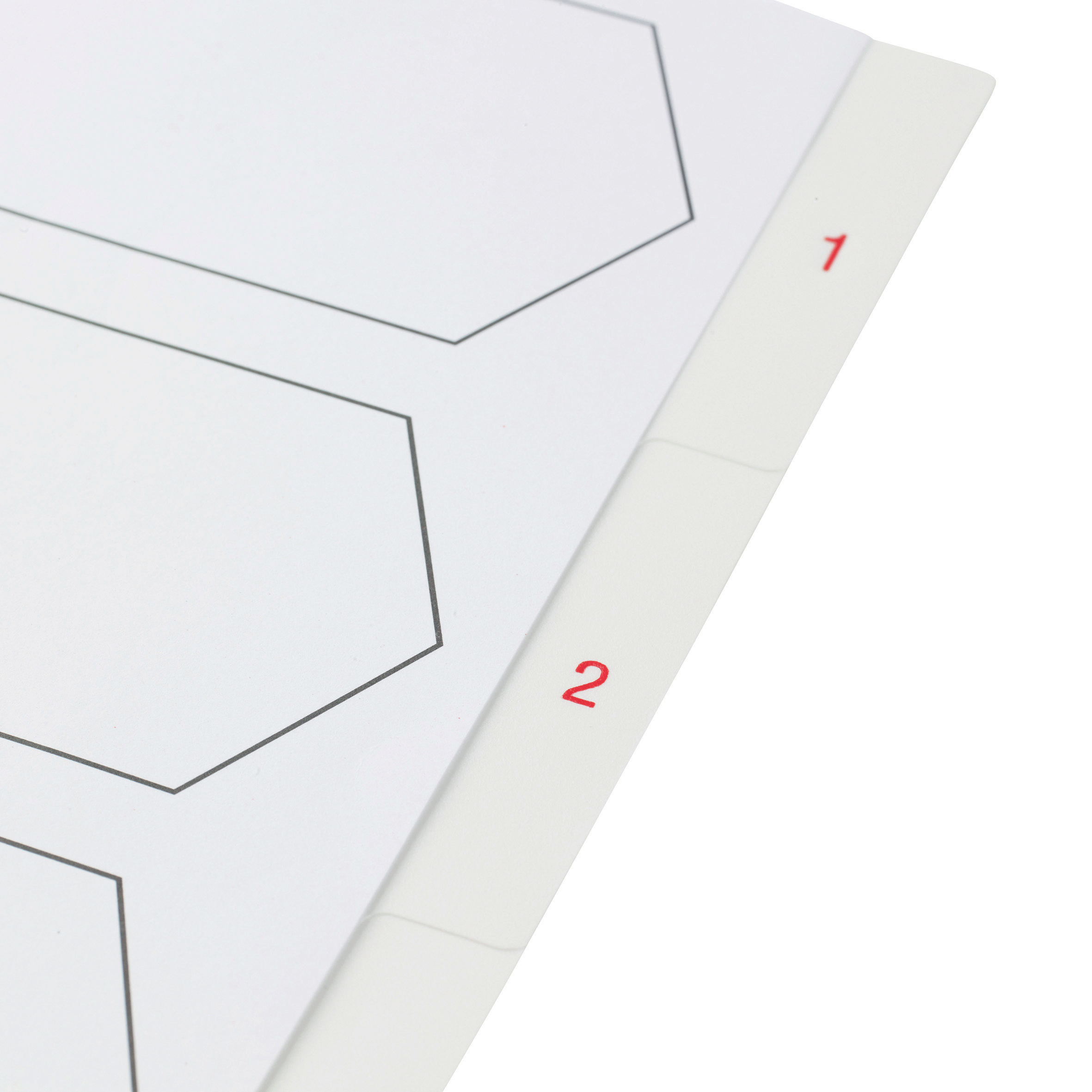 5 Star Elite Premium Index 1-5 Polypropylene Multipunched Reinforced Holes 120 Micron A4 White