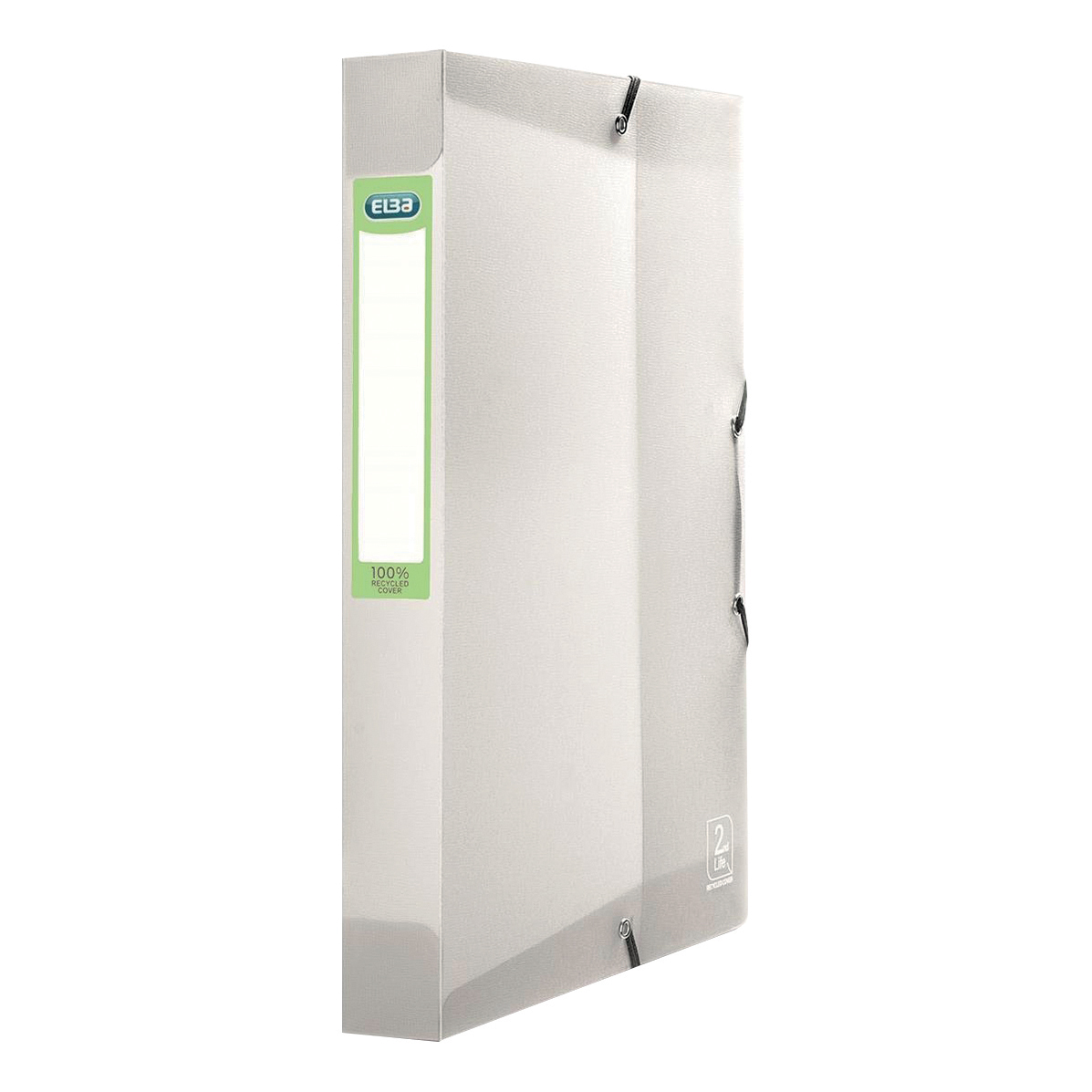 Elba 2nd Life Box File 40mm Spine Recycled Polypropylene A4 Clear Ref 400071322