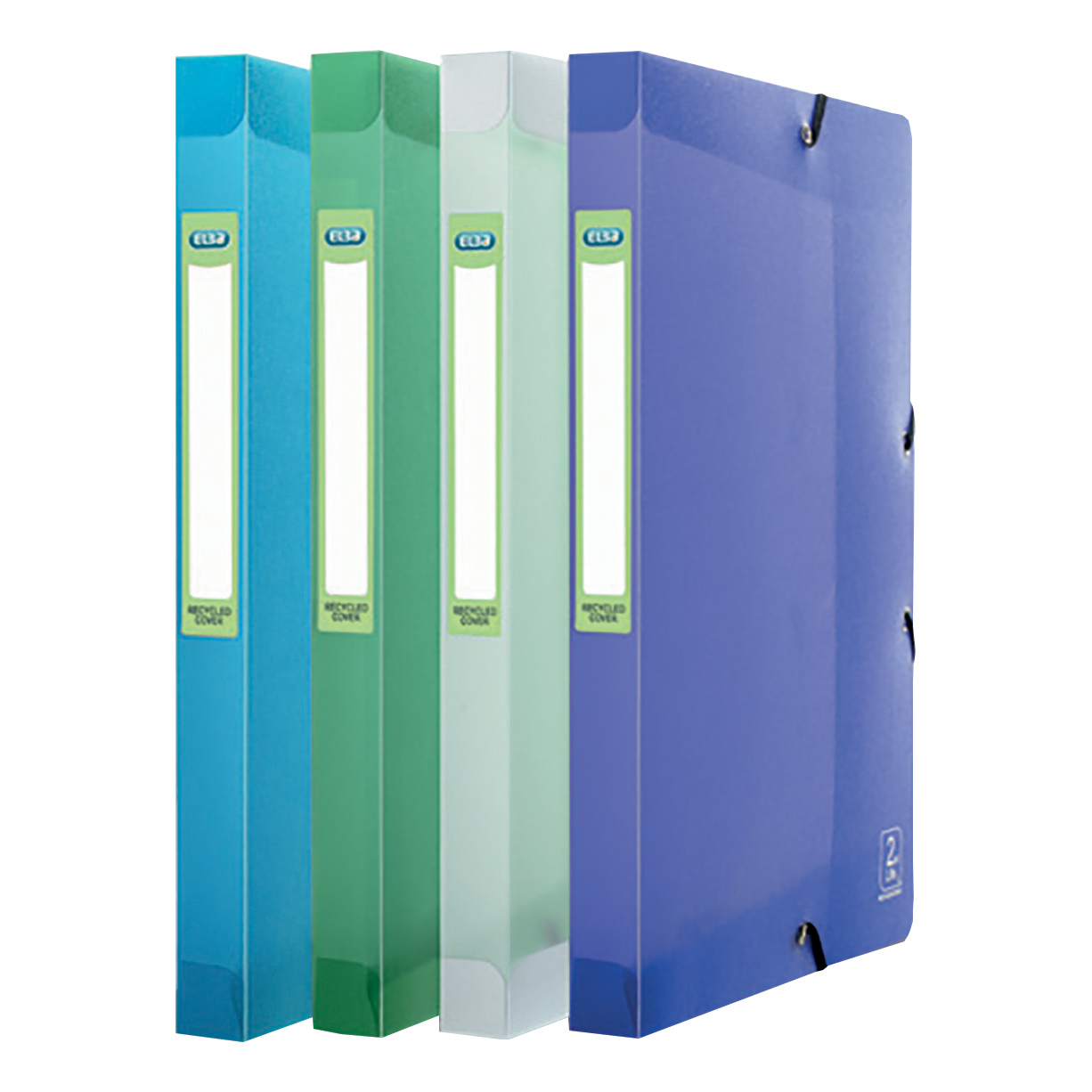 Elba 2nd Life Box File 40mm Spine Recycled Polypropylene A4 Assorted Ref 400084982 [Pack 4]