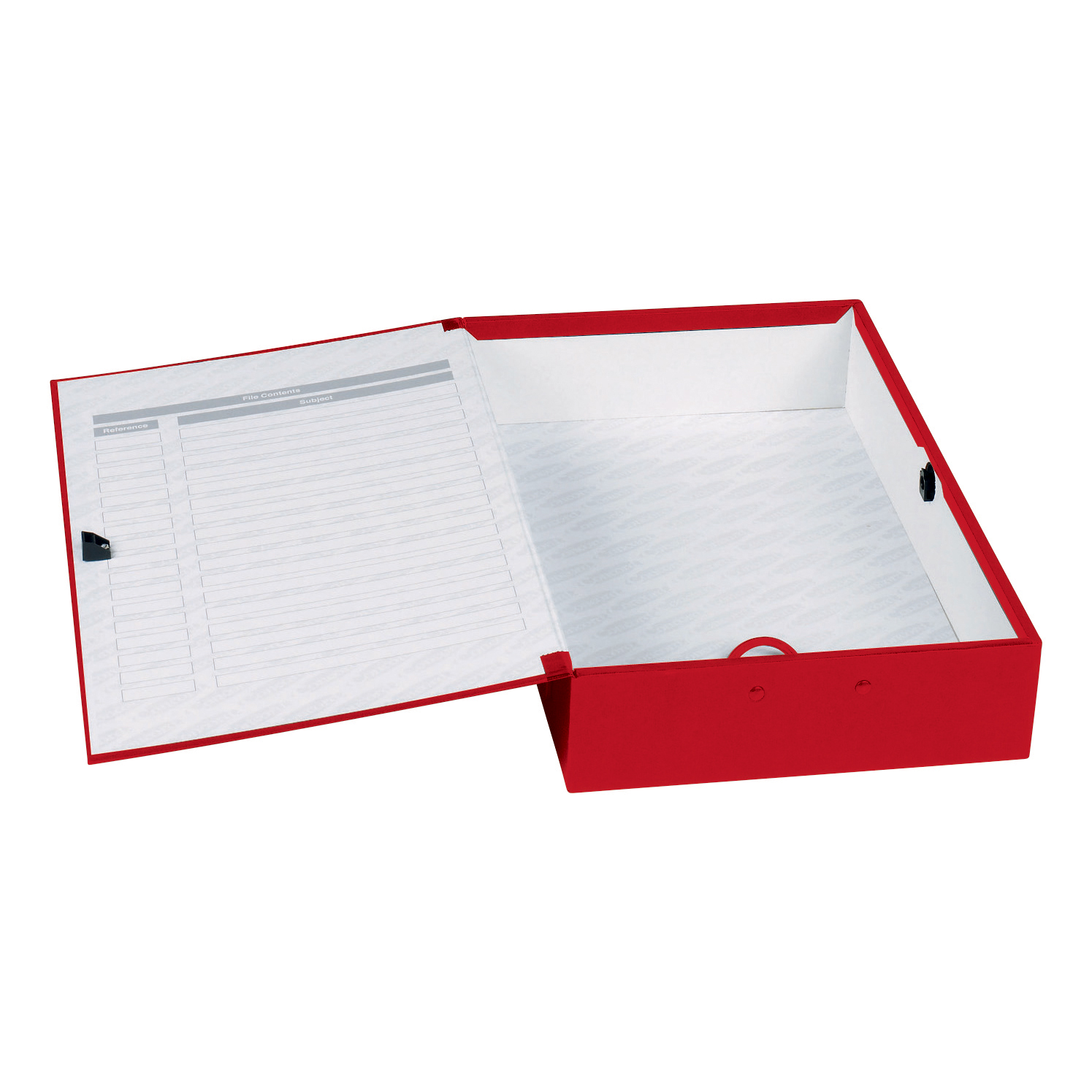 Concord Classic Box File 75mm Spine Foolscap Red Ref C1279 Pack 5