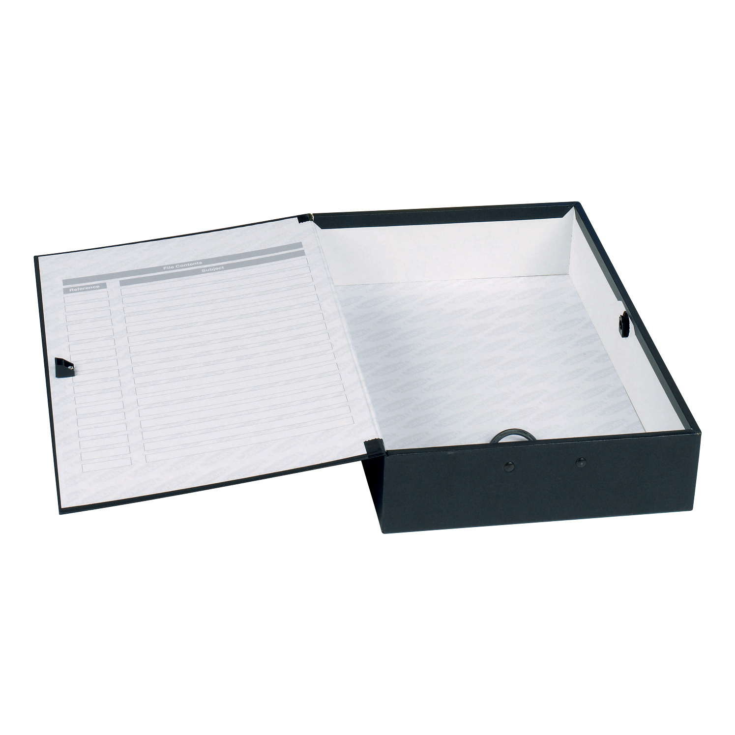 Concord Classic Box File 75mm Spine Foolscap Black Ref C1282 Pack 5