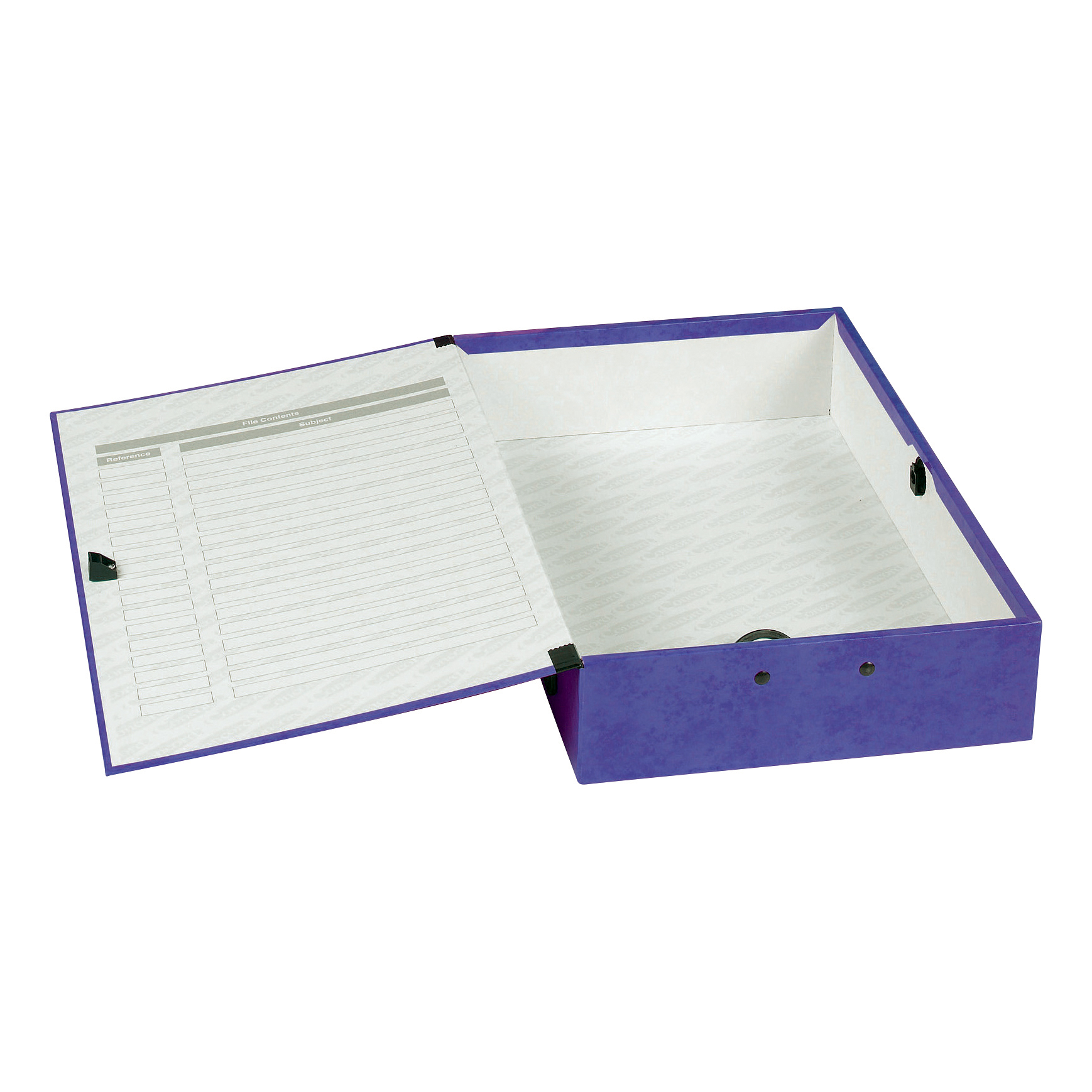 Concord Contrast Box File Laminated 75mm Spine Foolscap Purple Ref 13484 Pack 5