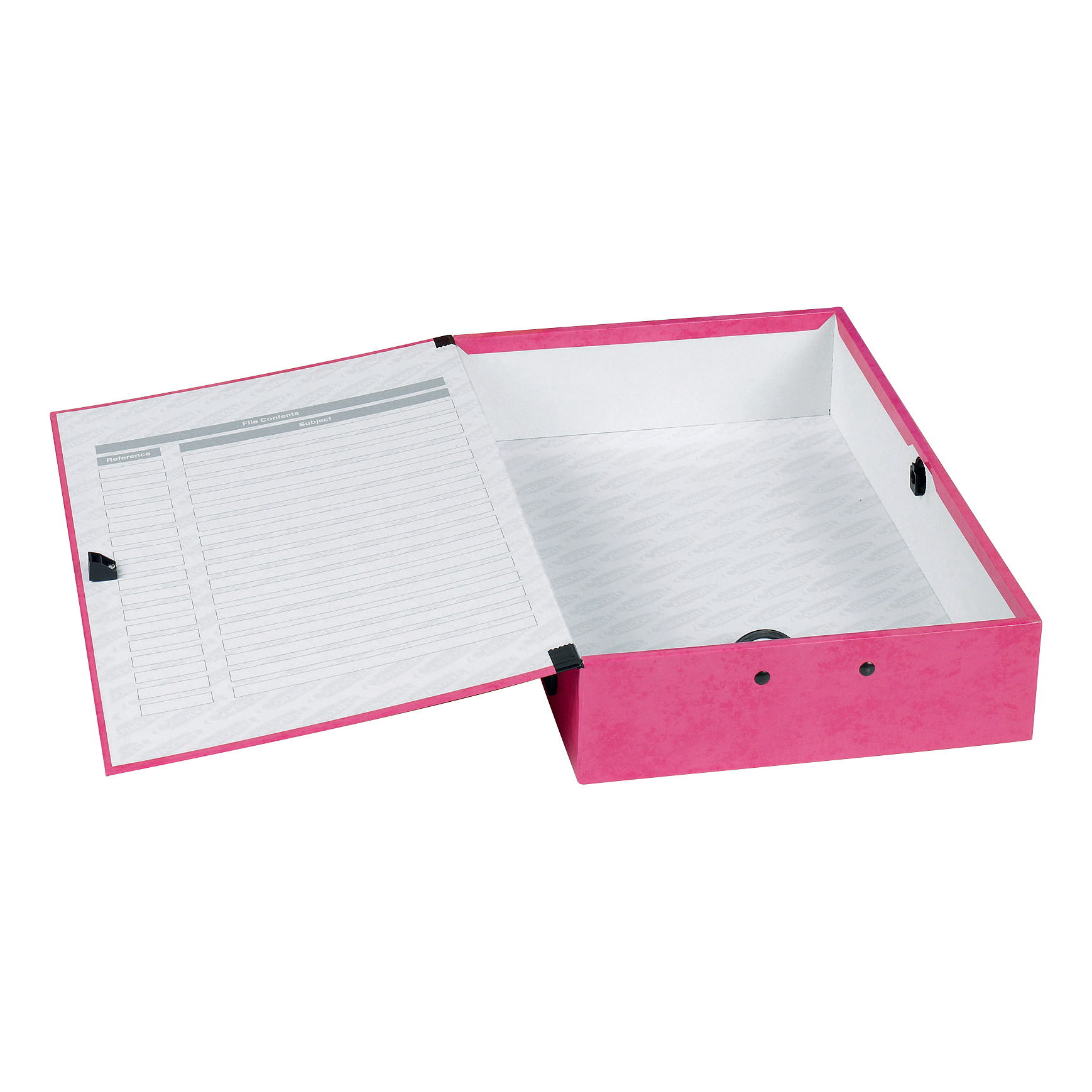 Concord Contrast Box File Laminated 75mm Spine Foolscap Raspberry Ref 13483 [Pack 5]