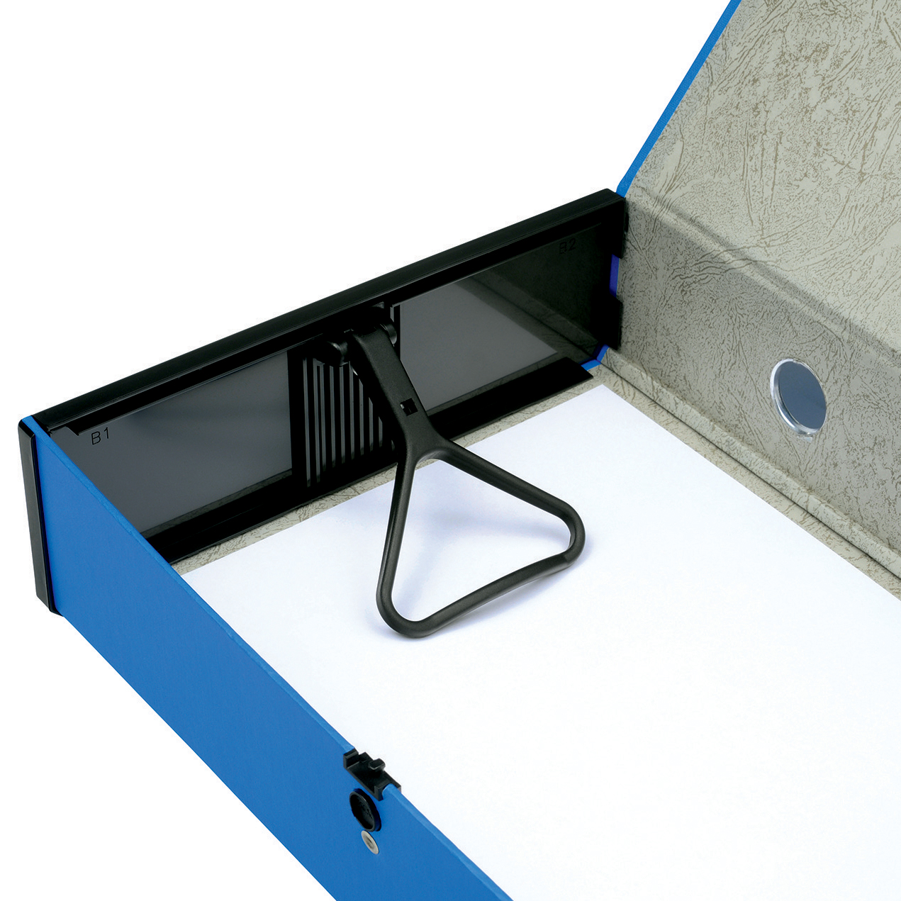 5 Star Office Box File 75mm Spine Lock Spring Foolscap Blue [Pack 5]