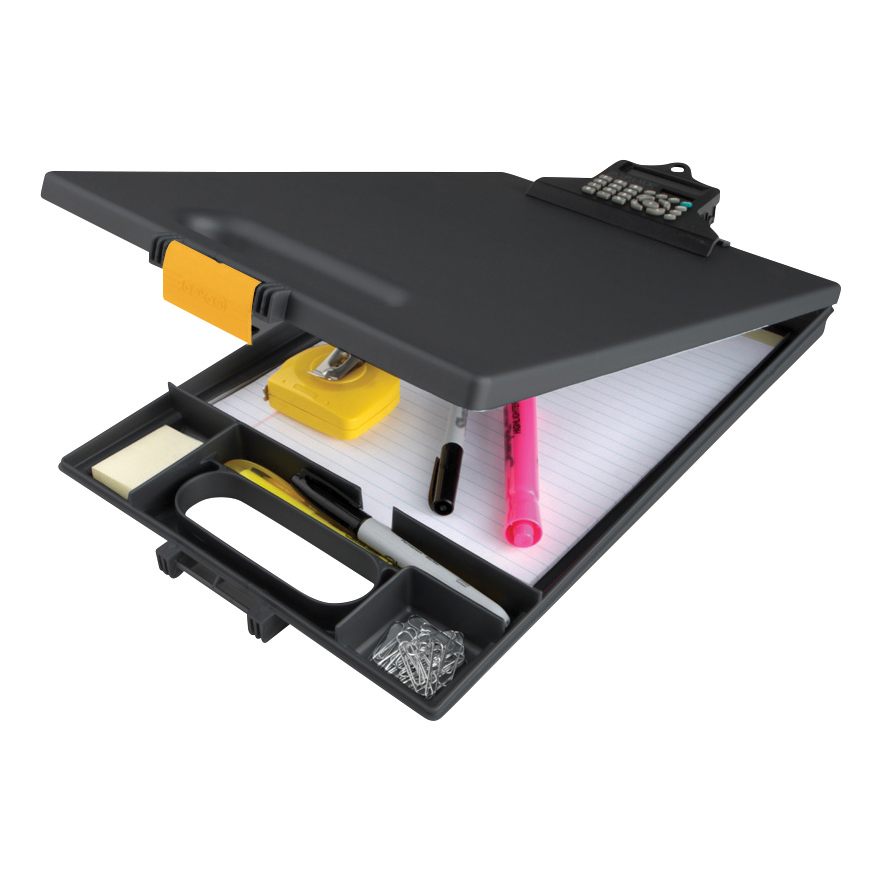 Clipboards Clipcase Clipboard with Calculator A4 Black