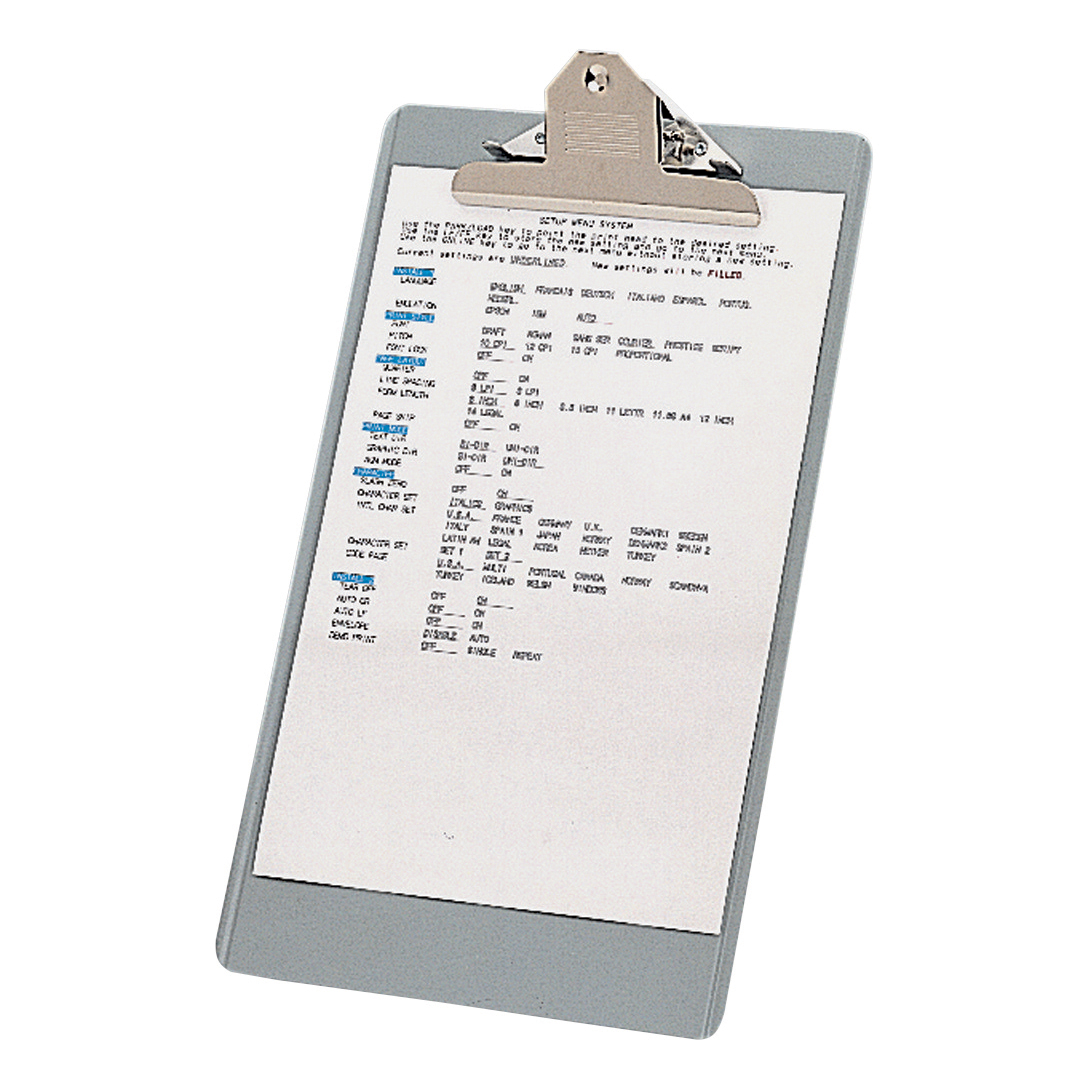 Clipboards Clipboard Steel Enamelled Foolscap Grey