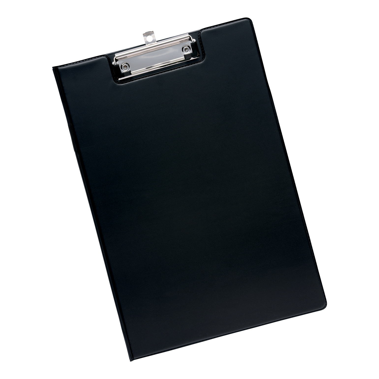 Image for 5 Star Office Fold-over Clipboard with Front Pocket Foolscap Black