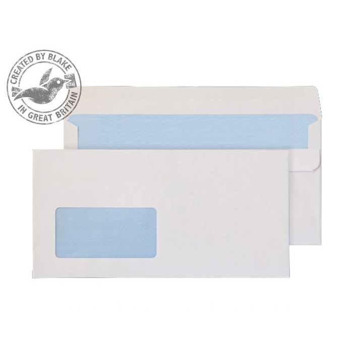 Purely Everyday White Self Seal Wallet Window DL+ 114x229mm Ref 15884 Pk 1000 10 Day Leadtime