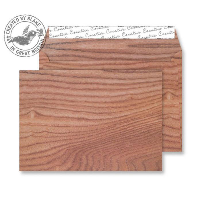 Creative Senses Wallet P&S Polished Oak 135gsm C5 162x229mm Ref NT351 Pack 125 *10 Day Leadtime*