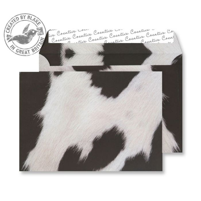 Creative Senses Wallet P&S Fresian Cow Hide 135gsm C5 162x229mm Ref NT359 Pk 125 10 Day Leadtime