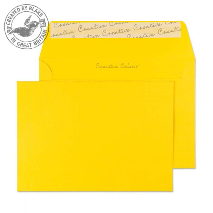 Creative Colour Egg Yellow Peel and Seal Wallet C6 114x162mm Ref 104 Pack 500 *10 Day Leadtime*