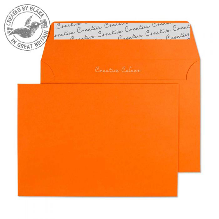 Creative Colour Pumpkin Orange P&S Wallet C6 114x162mm Ref 105 Pack 500 *10 Day Leadtime*