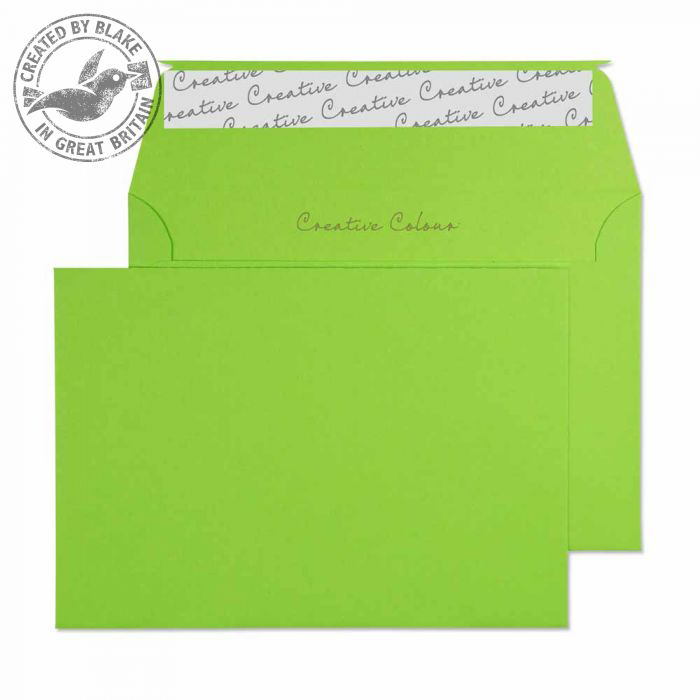Creative Colour Lime Green Peel and Seal Wallet C6 114x162mm Ref 107 [Pack 500] 10 Day Leadtime