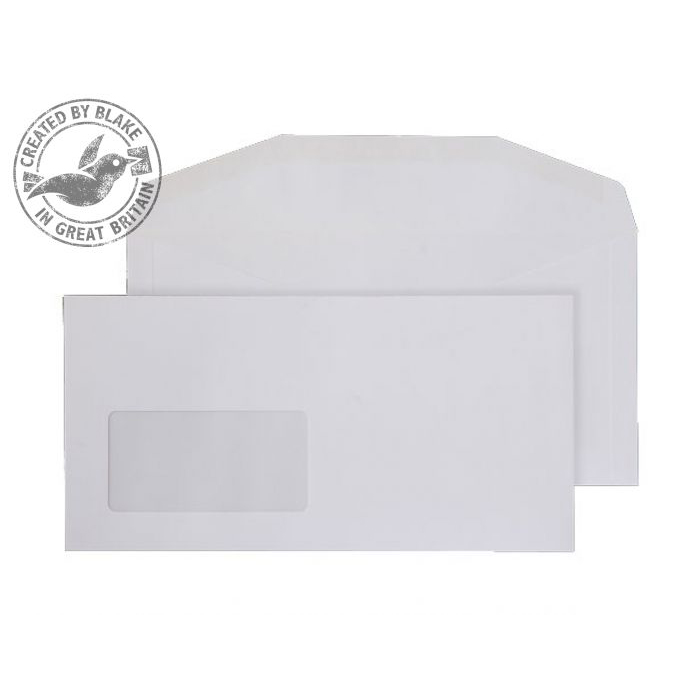 Purely Everyday White Gummed Mailing Wallet Window DL+ 114x229 Ref 3604 Pk 1000 *10 Day Leadtime*