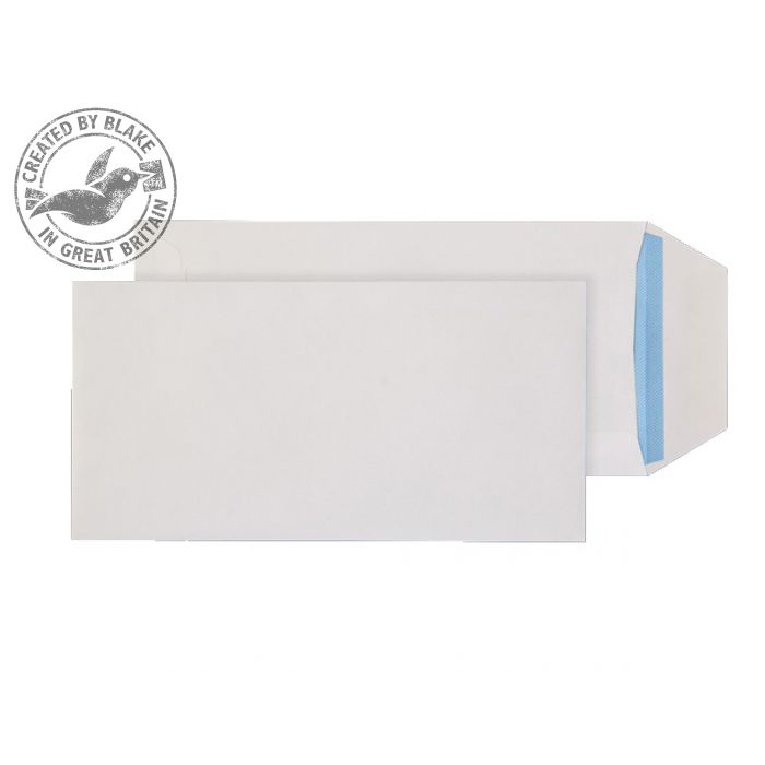Purely Everyday Pocket Gummed White 90gsm DL 220x110mm Ref 23701 [Pack 1000] 10 Day Leadtime