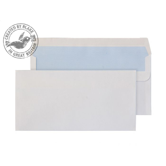 Purely Everyday White Self Seal Wallet DL+ 121x235mm Ref 16882 [Pack 1000] 10 Day Leadtime