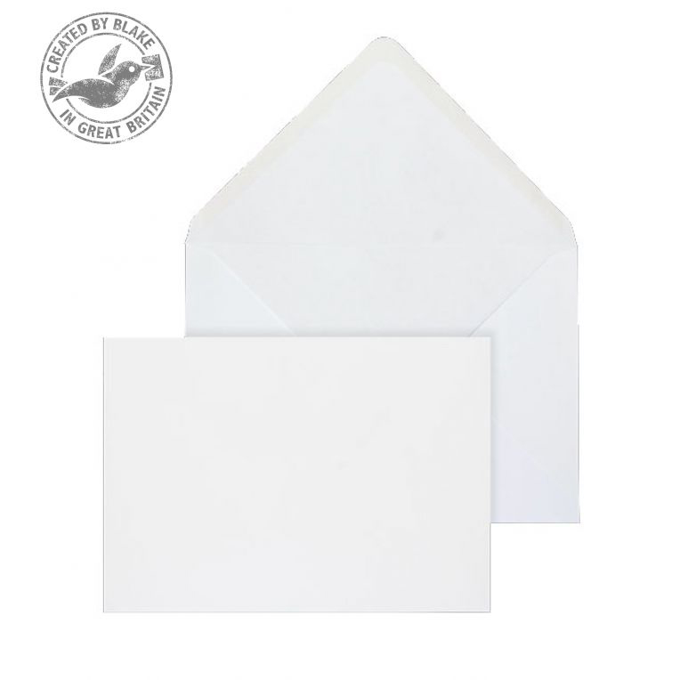 Purely Everyday Banker Invitation Gummed White 100gsm 133x197mm Ref 2005 Pk 1000 *10 Day Leadtime*