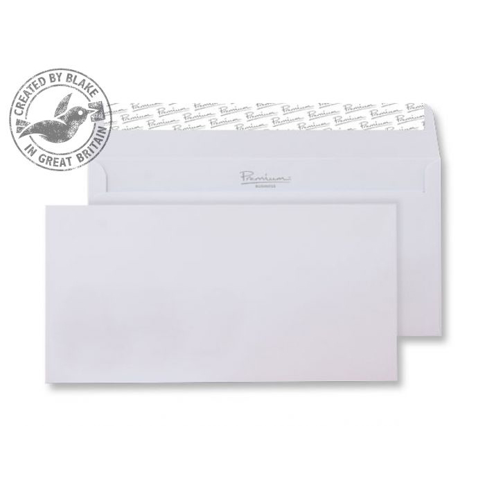 Blake Premium Business Wallet P&S Ice White Wove DL 120gsm Ref 31882 Pk500 *10 Day Leadtime*