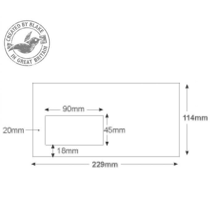 Purely Everyday Mailer Gummed Window White 115gsm DL+ 114x229mm Ref 4804 Pk 1000 10 Day Leadtime