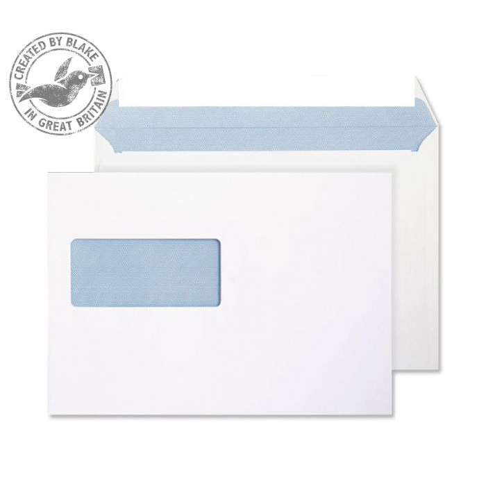 Purely Everyday Wallet P&S Window Ultra White 120gsm C5 162x229 Ref 34708 Pk 500 *10 Day Leadtime*