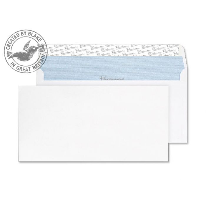 Blake Premium Office Wallet P&S Ult White Wove DL+ 114x229 120gsm Ref 33215 Pk500 *10 Day Leadtime*