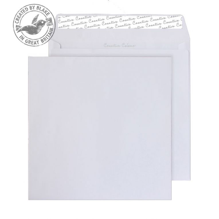 Creative Colour Ice White Peel and Seal Wallet 220x220mm Ref 550 [Pack 250] *10 Day Leadtime*