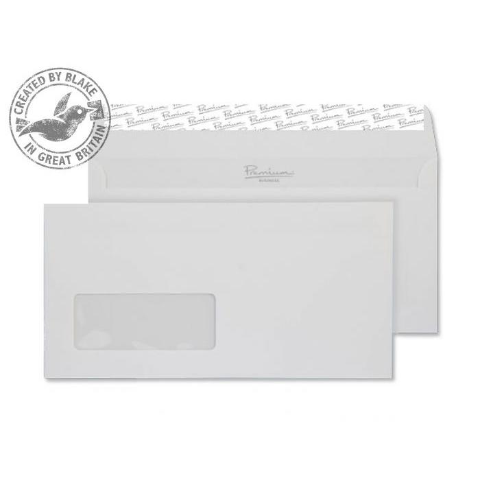 Blake Premium Business Wallet Wndw P&S Brilliant White DL 120gsm Ref 37884 Pk500 10 Day Leadtime
