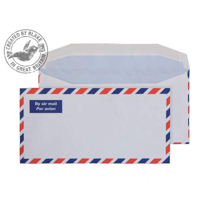 Purely Everyday Airmail Wallet Gummed White 80gsm DL 110x220mm Ref A1701 Pk 1000 10 Day Leadtime