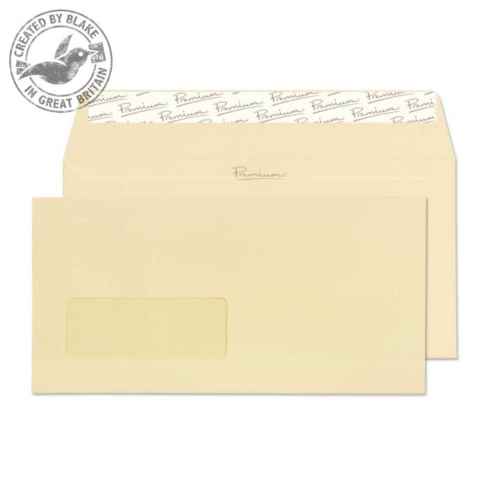 Blake Premium Business Wallet Wndw P&S Vellum Wove DL 120gsm Ref 51884 Pk500 *10 Day Leadtime*