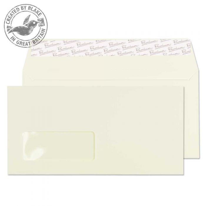 Blake Premium Business Wallet Wndw P&S Oyster Wove DL 120gsm Ref 71884 Pk500 *10 Day Leadtime*