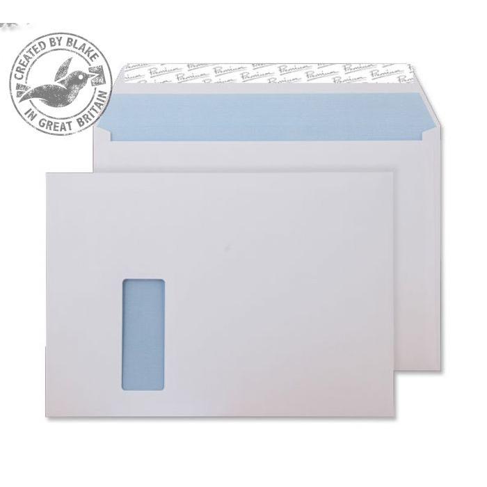 Blake Premium Office Wallet Wndw P&S Ultra White Wove C4 120gsm Ref 36216 Pk250 *10 Day Leadtime*
