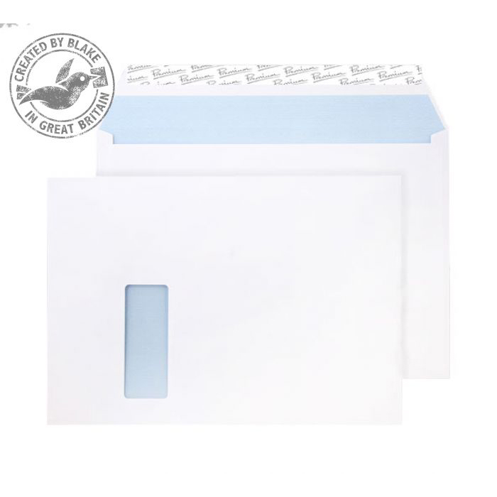 Blake Premium Office Wallet Wndw P&S Ultra White Wove C4 120gsm Ref 36217 Pk250 *10 Day Leadtime*