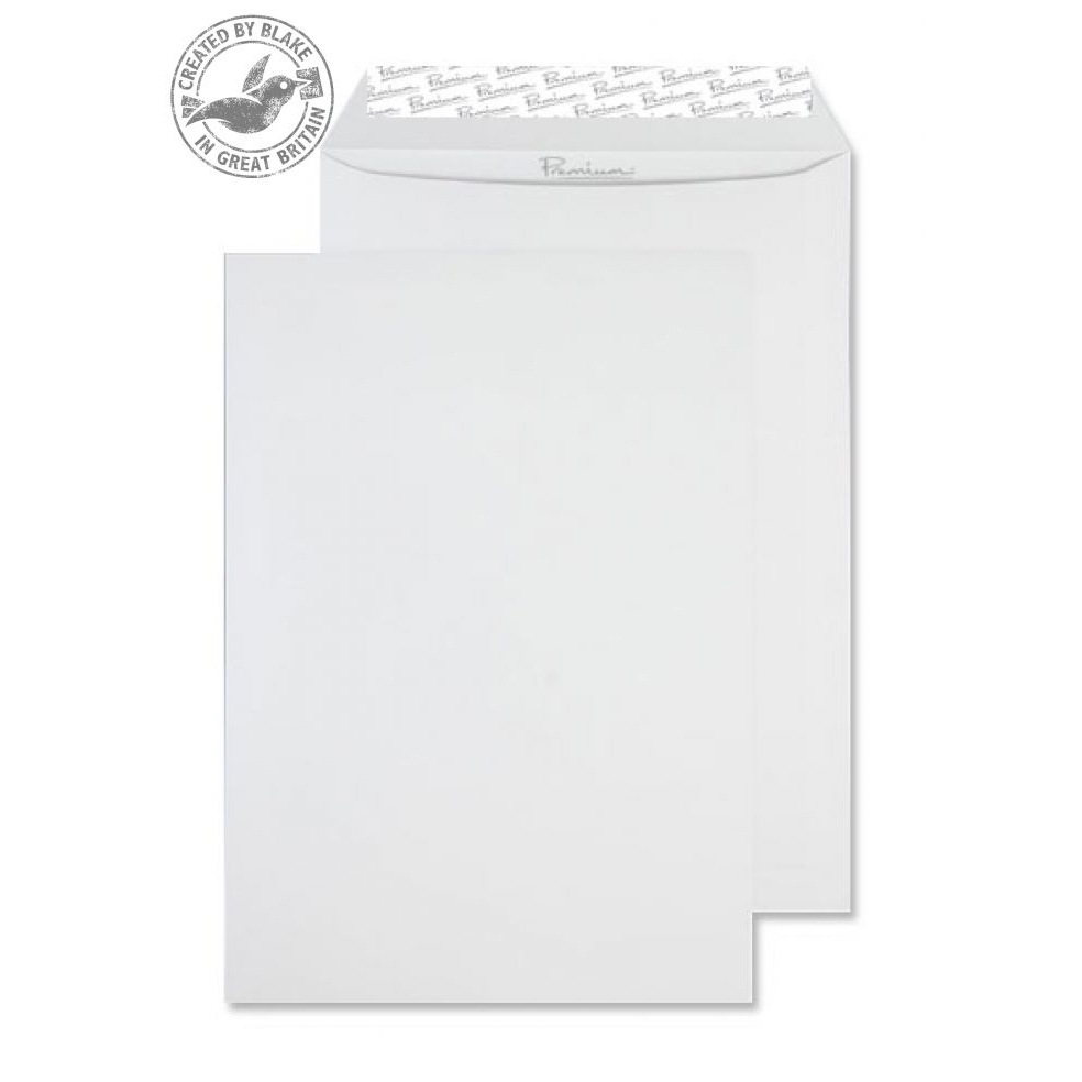 Blake Premium Business Pocket P&S High White Wove C4 120gsm Ref 35891 Pk250 *10 Day Leadtime*