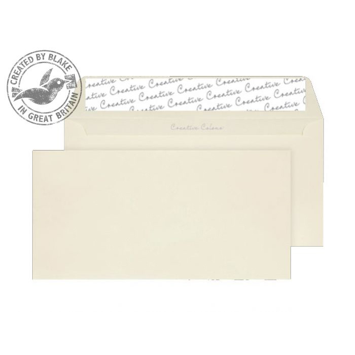 Creative Colour Vanilla Ice Cream P&S Wallet DL+ 114x229mm Ref 200 [Pack 500] 10 Day Leadtime
