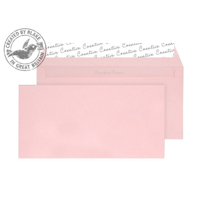 Creative Colour Baby Pink Peel and Seal Wallet DL+ 114x229mm Ref 201 [Pack 500] 10 Day Leadtime