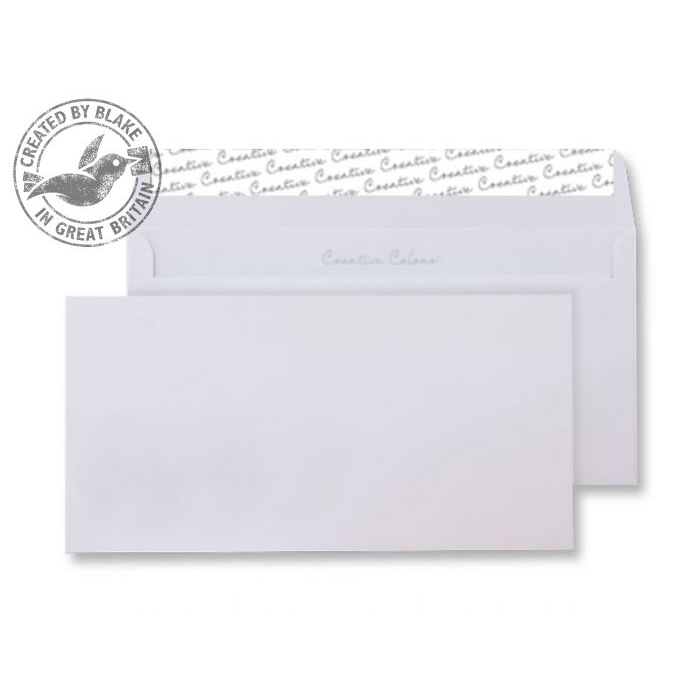 Creative Colour Wallet P&S Ice White 120gsm DL+ 114x229mm Ref 250 [Pack 500] 10 Day Leadtime