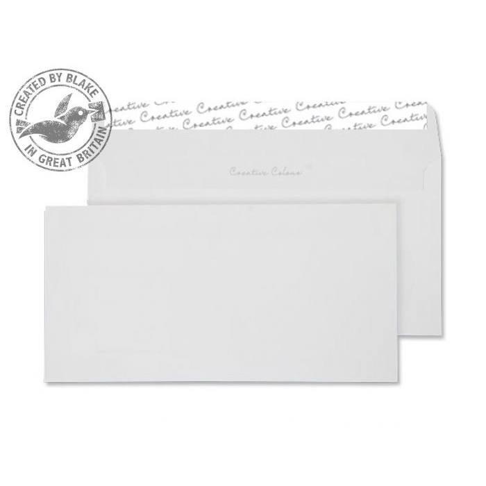 Creative Colour Wallet P&S Milk White 120gsm DL+ 114x229mm Ref 251 [Pack 500] 10 Day Leadtime