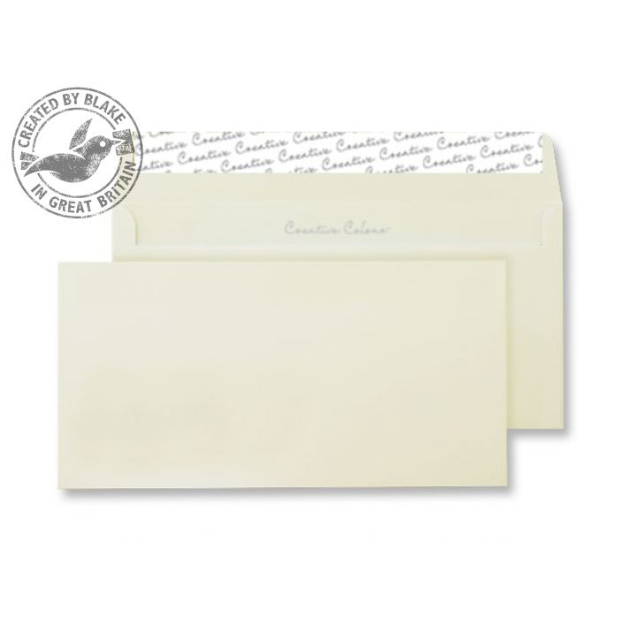 Creative Colour Wallet P&S Clotted Cream 120gsm DL+ 114x229mm Ref 253 [Pack 500] *10 Day Leadtime*
