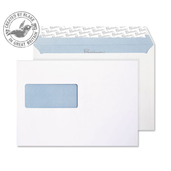 Blake Premium Office Wallet Wndw P&S Ultra White Wove C5 120gsm Ref 34216 Pk500 10 Day Leadtime