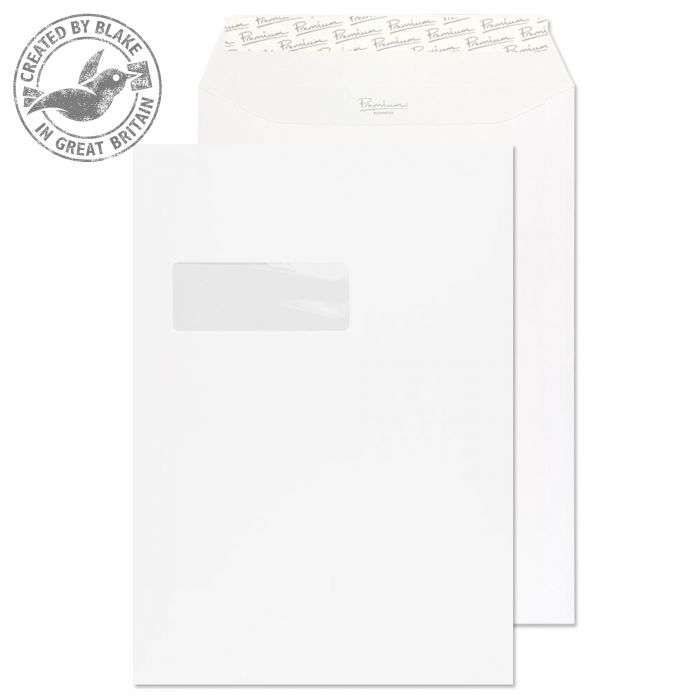 Blake Premium Business Pocket Wndw P&S Ice White Wove C4 120gsm Ref 31892 Pk250 10 Day Leadtime
