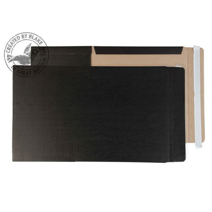Image for Purely Packaging Black Book Wraps Book Wrap P&S 241x178x50mm Ref BWC5plus [Pack 25] 3to5 Day Leadtime