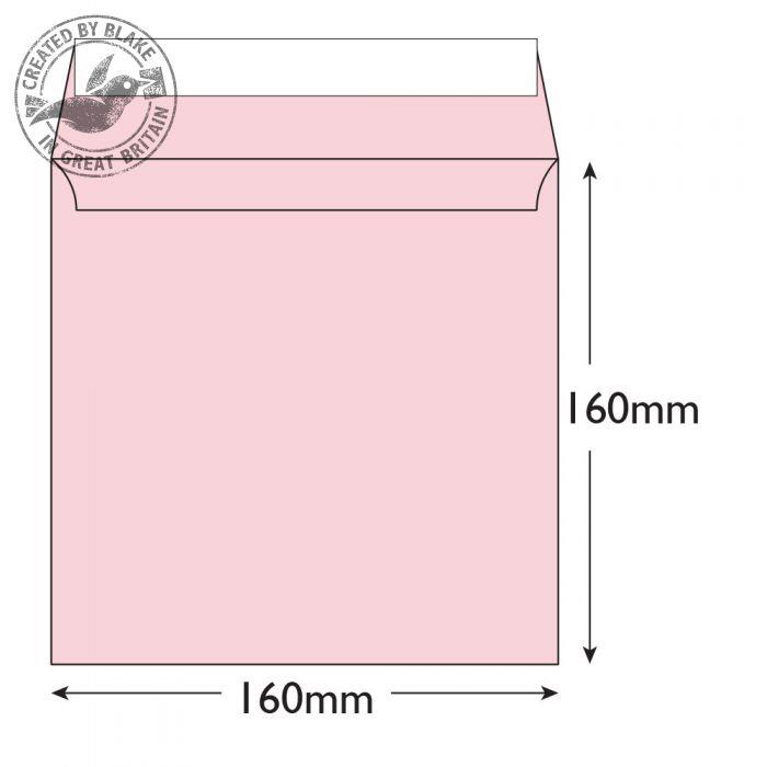 Creative Colour Square Wallet P&S Baby Pink 160x160mm 120gsm Ref 601 [Pack 500] 10 Day Leadtime