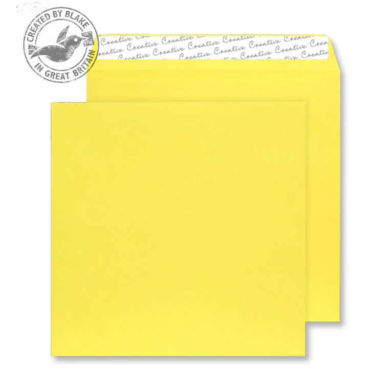Creative Colour Square Wallet P&S Banana Yellow 120gsm 160x160mm Ref 603 Pk 500 *10 Day Leadtime*