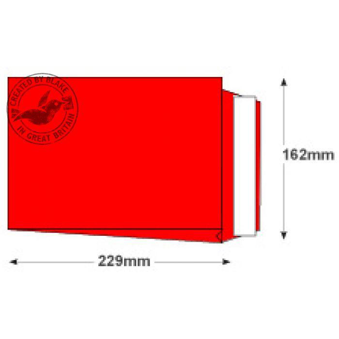Creative Colour Pillar Box Red P&S Gusset C5 229x162x25mm Ref 6060 Pack 125 *10 Day Leadtime*
