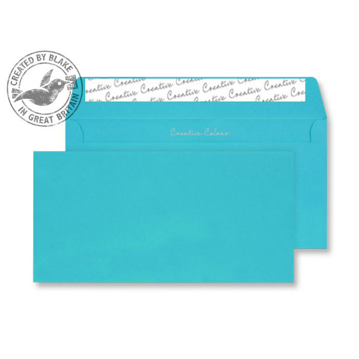 Creative Colour Cocktail Blue P&S Wallet DL+ 114x229mm Ref 209 [Pack 500] *10 Day Leadtime*