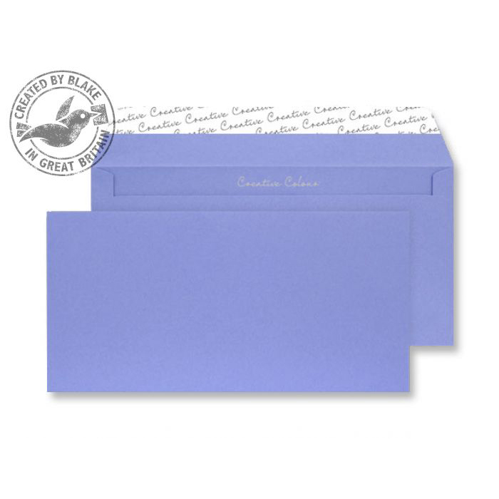 Creative Colour Summer Violet P&S Wallet DL+ 114x229mm Ref 211 [Pack 500] *10 Day Leadtime*