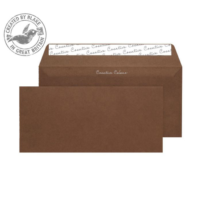 Creative Colour Wallet P&S Milk Chocolate 120gsm DL+ 114x229mm Ref 223 [Pack 500] *10 Day Leadtime*