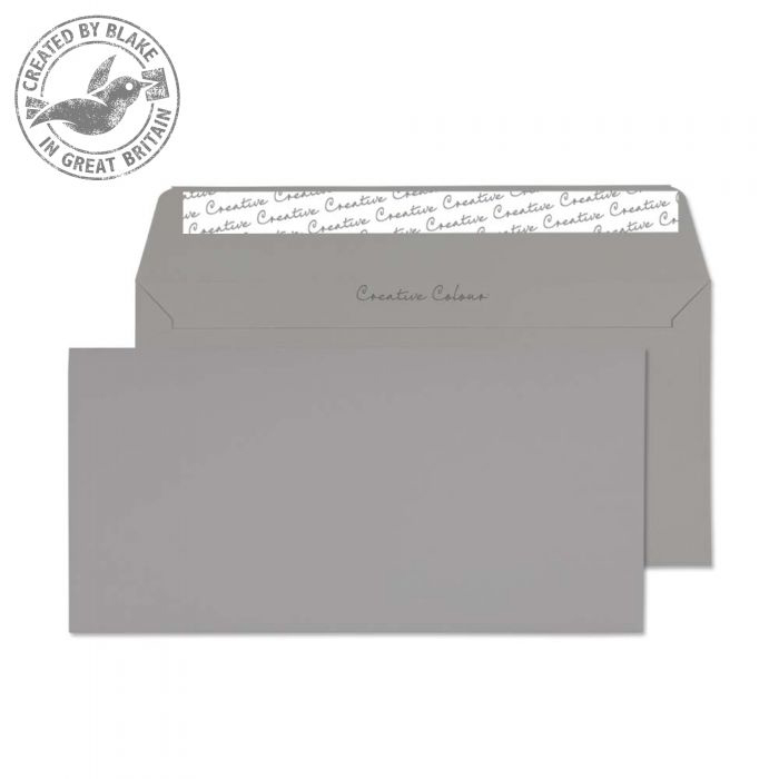 Creative Colour Wallet P&S Storm Grey 120gsm DL+ 114x229mm Ref 225 [Pack 500] *10 Day Leadtime*