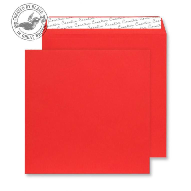 Creative Colour Pillar Box Red Peel and Seal Wallet 220x220mm Ref 506 [Pack 250] *10 Day Leadtime*